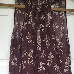 Gorgeous 100%silk sheer top Dress